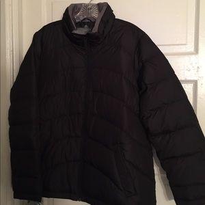 Black Land's End Women's Down Jacket Size OX (14W)